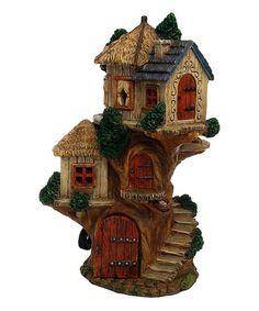 Marshall Home and Garden Tree House Fairy Garden Figurine   zulily