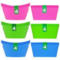 Colorful Mini Plastic Storage Bins, 4-ct. Packs
