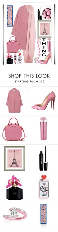 """19.10.16-2"" by malenafashion27 ❤ liked on Polyvore featuring MANGO, Maybelline, Christian Louboutin, Asobu, Vintage Print Gallery, Marc Jacobs, Allurez and Herman Miller"