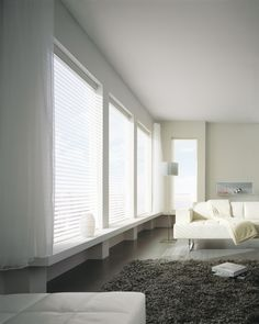 Luxaflex® Silhouette® Shades UV protection without compromising your view, perfect for large windows.