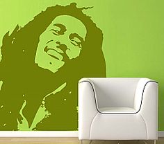 Wall Decal: Inspiratinal Bob Marley Wall Decals Bob Marley Stickers For Bikes, Bob Marley Wall Art, Bob Marley Wall Painting Music Wall Decor, Music Wall Art, Cool Wall Art, Dorm Room Walls, Cool Dorm Rooms, Vinyl Wall Stickers, Wall Decals, Wall Décor, Reggae Artists