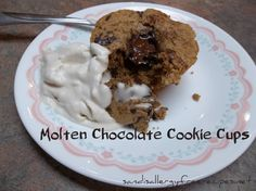 Molten Chocolate Cookie Cups (Gluten Free/ Dairy Free) from SANDI'S ALLERGY FREE RECIPES.