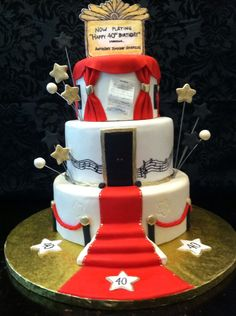 Broadway Red Carpet 40th Birthday Cake