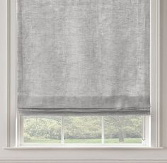 RH's Stonewashed Sheer Linen Flat Roman Shade:Highly functional and aesthetically clean, our custom Flat Roman Shades ensure that the windows themselves are part of the view. Sewn with a smooth front, they come in a variety of natural materials and fabric options that are also available in our drapery collections – allowing you to combine coverings in the same room, or even on the same window, with perfect ease. May also be layered over our Solar or Blackout Roller Shades.