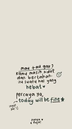 Cute Inspirational Quotes, Simple Quotes, Motivational Words, Cute Quotes, Best Quotes, Reminder Quotes, Self Reminder, The Notebook Quotes, Quotes Galau