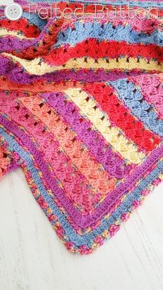 Crochet Pattern Rows of Posies Blanket Afghan Baby by FeltedButton