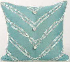 Karen Robertson Pillows | Rope Knot - Baltic Indoor Outdoor Pillow