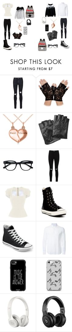 """fight siblings"" by stargazzer24 on Polyvore featuring AMIRI, Allurez, Karl Lagerfeld, Boohoo, Roland Mouret, Converse, Venroy, Casetify, Music Notes and Beats by Dr. Dre"