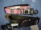 Ford Mustang Seat Belt Buckle Dog Collar black or pink