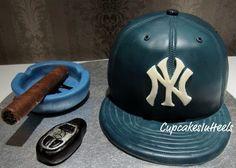 Yankees Baseball Cap Cake