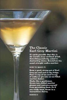 Earl Grey Martini - yes please