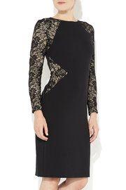 Black Lace Insert Dress- Wallis - A'14