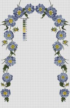 buda nazar boncuğu olsun:) Cross Stitch Rose, Cross Stitch Flowers, Cross Stitch Charts, Embroidery Applique, Cross Stitch Embroidery, Lace Beadwork, Stitch Delight, Wedding Cross Stitch Patterns, Paper Weaving
