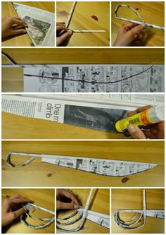 """Newspaper Sword Tutorial!  """"Inspired by Eclipse of the Sun"""" by George Grosz."""