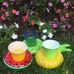Fruits Pool Float Toys Inflatable Fruits Beer Drink Cup Holder Mini Drink Pool Toy