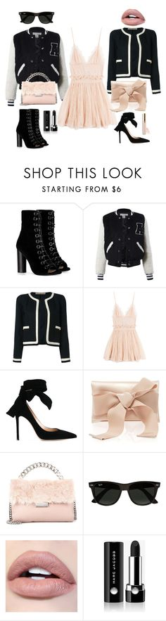 """Rebel or chic?"" by norathelemon ❤ liked on Polyvore featuring Barbara Bui, Sans Souci, Chanel, Alexander McQueen, Gianvito Rossi, Oscar de la Renta, STELLA McCARTNEY, Ray-Ban, Marc Jacobs and Beautycounter"
