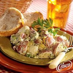 Classic Potato Salad, using Crisco® Pure Vegetable Oil. Makes 8 to 10 servings ready in 45 minutes.