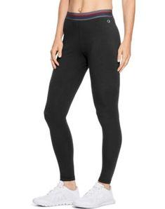 fdb6433698648 Champion Women's Authentic Leggings Black Leggings, Women's Leggings,  Stretch Fabric, Pants For Women
