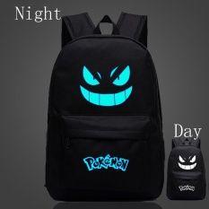 18.8inch Pokemon Animation Game Peripheral Shoulder Bag Black Gengar Pokemon Canvas Backpack Bag