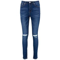 Boohoo Brianne High Waisted Skinny Jeans | Boohoo ($32) ❤ liked on Polyvore featuring jeans, high waisted jeans, high-waisted jeans, super skinny jeans, ripped boyfriend jeans and high waisted ripped jeans