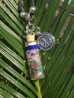 Gemstone Peace Spell Charm Necklace Wiccan Pagan Witch Hoodoo Open To Love