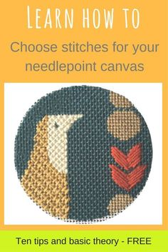 Learn how to choose decorative stitches for a needlepoint canvas when you're just starting out.