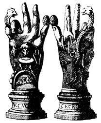 The Emblematic Hand of the Mysteries (in Antiquitas explanatione et schematibus illustrata)