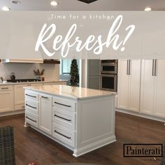 From a full cabinet remodel to an updated paint color, Painterati is here for you. With years of experience, our experts will make your kitchen dreams come to life! Cabinet Remodel, Fresh Paint, Countertops, Interior, Cabinet Finishes, Kitchen Refresh, Cabinet, Kitchen, Kitchen Transformation