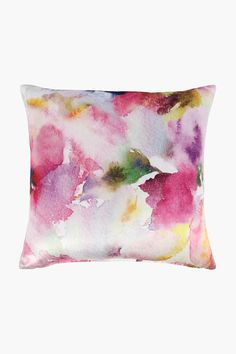 Velvet Printed Watercolour Scatter Cushion, 50x50cm - Shop New In - Ho Scatter Cushions, Throw Pillows, Home Decor Shops, Watercolour, Velvet, Texture, Printed, Cover, Fabric