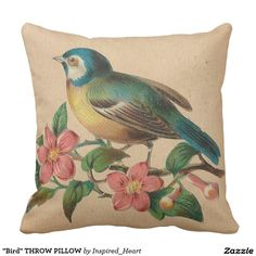 """""""Bird"""" THROW PILLOW"""