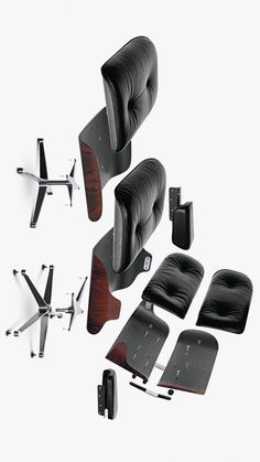 Schematic View Of An Authentic #Eames Lounge Chair And Ottoman Made By Our  Partner For