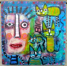 """Tracey Ann Finley Original:""""Hanging Tough With The Kewl Kats"""""""