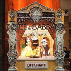 "DOLCE&GABANNA, Milan, Italy, ""DG Loves the Opera"", (Can you remember the most celebrated 'brindisi' in the history of music? Hint, its in La Traviata), pinned by Ton van der Veer"