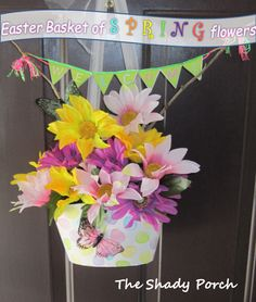 Dollar Tree Project: Easter/Spring Basket for Door!