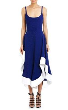 ESTEBAN CORTAZAR Contrast-Hem Dress. #estebancortazar #cloth #dress