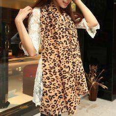 Silk scarf autumn -summer and winter super large leopard print chiffon wrap Autumn Summer, Winter, Print Chiffon, Scarf Styles, Women's Fashion, Silk, Dresses, Winter Time, Vestidos