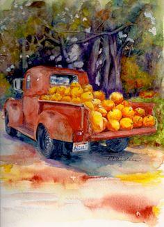 Pumpkin Truck Painting  - KC Winters