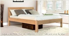 The Kensington bed is one of the newest beds added to our range and is the perfect option for anyone looking for a sleek, stylish handmade wooden bed Oak Bed Frame, Wooden Bed Frames, Wooden Beds, Cama Design, Under Bed Storage Boxes, Beds Uk, Oak Beds, Platform Bed Frame, Beds For Sale