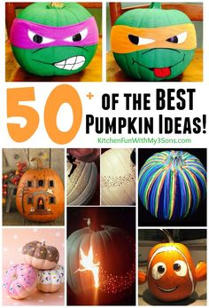 Over 50 of the best Pumpkin Decorating Ideas....everything from cute, scary, and beautiful creations that are easy to make!