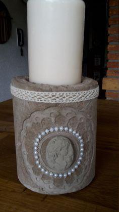 Beton Kerzenleuchter oder Blumentopf  Herz von ParacordFamilyandPet