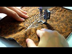 Free motion quilting on an industrial sewing machine Juki DDL 8700