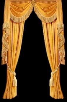 Victorian curtain....gold