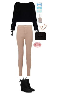 """Untitled #3"" by xx-rainbowtoast-xx ❤ liked on Polyvore featuring Sydney Evan, Kate Spade, Essie, Miss Selfridge and Lime Crime"