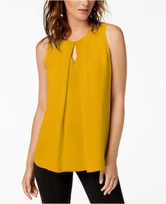 Bar Iii Keyhole Top, Created for Macy's - Yellow S Western Tops, Couture, Night Outfits, Summer Tops, Indian Outfits, Sleeveless Blouse, Latest Fashion Trends, Casual, Fashion Dresses