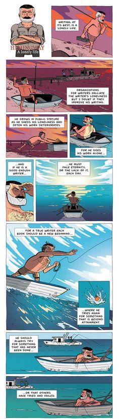 Ernest Hemingway / ZEN PENCILS – Cartoon quotes from inspirational folks
