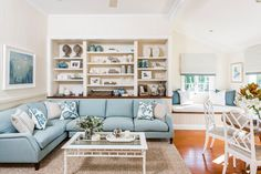 Blue couch living room decorating ideas for with sofa impressive minimalist small house beach style sectional light Blue Couch Living Room, Rugs In Living Room, Living Room Furniture, Home Furniture, Living Room Decor, Table Furniture, Living Area, Furniture Design, Light Blue Couches