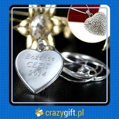 Grawerowane #srebrne #serduszko z #cyrkoniami na #łańcuszku znakomicie sprawdzi się jako #prezent dla ukochanej. http://bit.ly/15PilXM