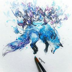 Expressive Watercolor Illustrations by Jongkie Art  www.artpeoplegallery.com #artpeople ♡@mummybonnie