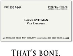 American psycho business cards pinterest american psycho and american psycho business cards pinterest american psycho and business cards colourmoves