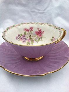 Shelley Oleander Wildflower Teacup & Saucer